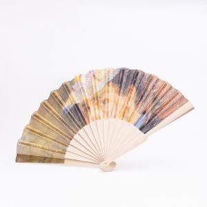 Abanico de varillas de madera personalizado