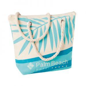 Bolsa de playa de canvas personalizada