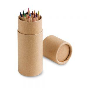 Tubo de cartón con 24 lápices de colores