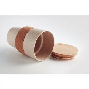 Vaso de PLA, corcho y bambú