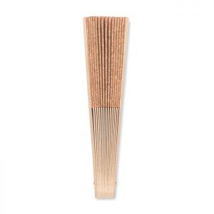 Abanico de madera y corcho